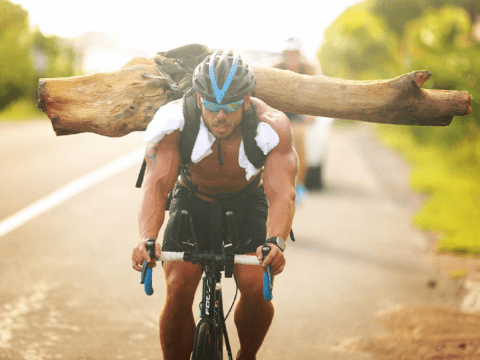 Meet Ross Edgley: the real life Action Man who runs with trees tied to his back