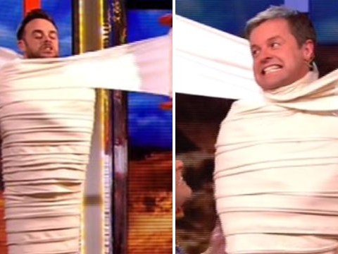 Ant and Dec get mummified by Stephen Mulhern live on Saturday Night Takeaway