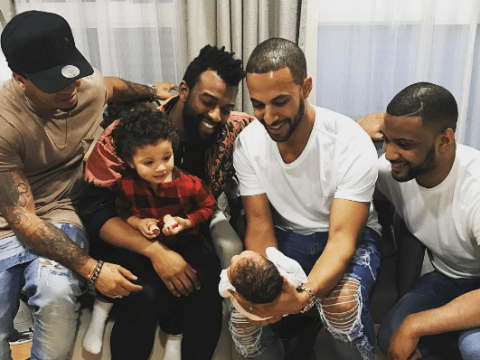 Marvin Humes introduced baby Valentina to his former JLS bandmates and it was adorable