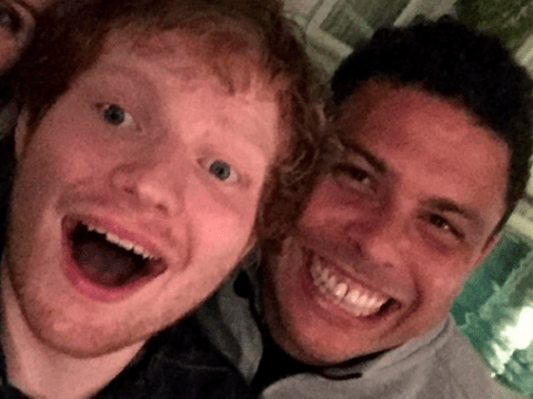 Ed Sheeran is BFFs with Brazilian football legend Ronaldo and we never knew