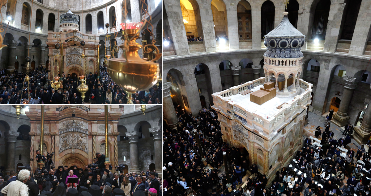 Public get first glimpse of Jesus' tomb after restoration