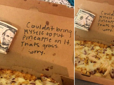 A campus pizza maker refused to include pineapple on this student's order