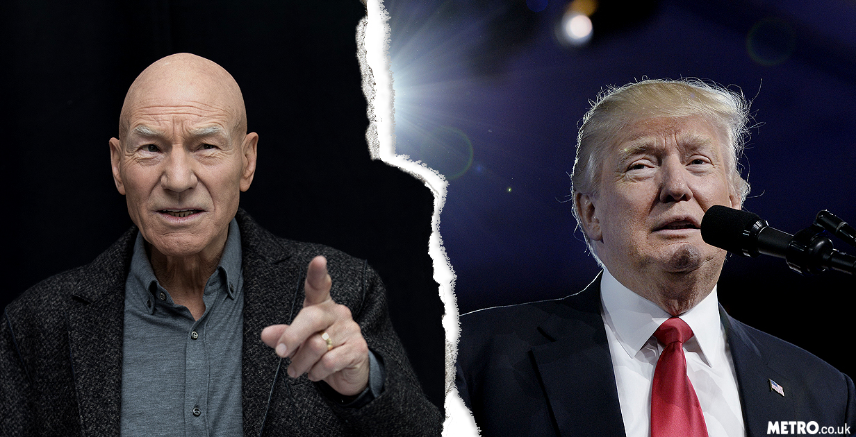 Sir Patrick Stewart has a genius plan to fight back against President Donald Trump