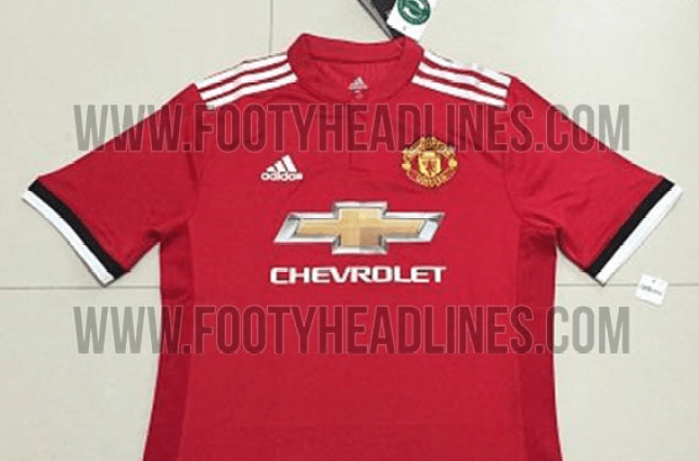 low priced b4268 eee4f Man Utd news: New 2017/18 home kit seemingly leaked online ...
