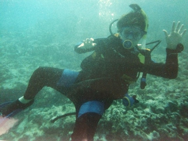 John loved scuba diving and dreamed of becoming an ocean paleontologist (Picture: PA Real Life)