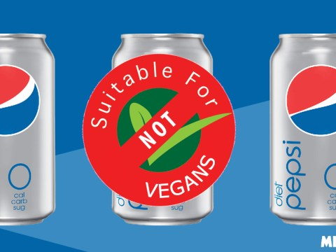 Pepsi won't say what it is that makes Diet Pepsi non-vegan