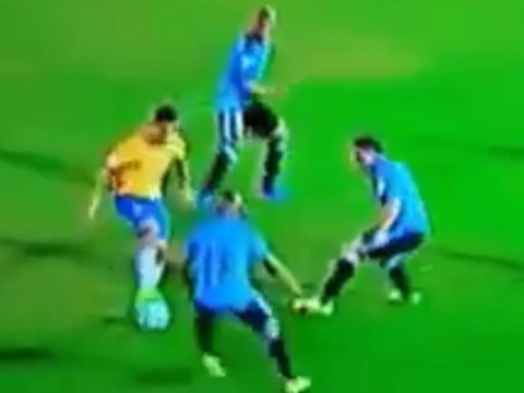 Philippe Coutinho embarrasses Uruguay's Egidio Arevalo Rios twice in five seconds during Brazil win