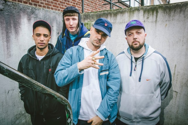 Television Programme: People Just Do Nothing with Daniel Sylvester Woolford as Decoy, Steve Stamp as Steves, Allan Mustafa as Grindah and Hugo Chegwin as Beats. Programme Name: People just do nothing S3 - TX: n/a - Episode: n/a (No. n/a) - (C) Roughcut Television - Photographer: Jack Barnes
