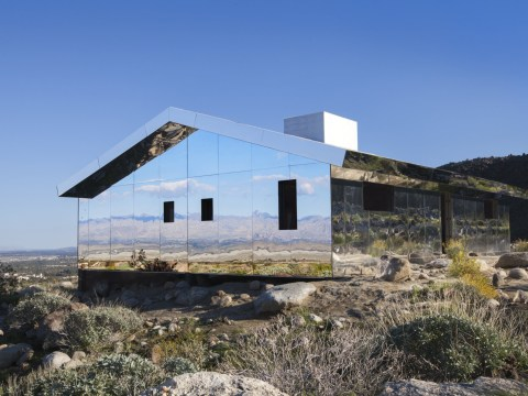 You might have trouble finding this chameleon house which blends into the desert