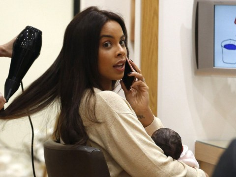 Like mother like daughter! Rochelle Humes took baby Valentina to the hairdressers