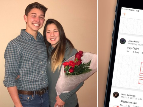 Adorable prom proposal involved five and a half miles of running