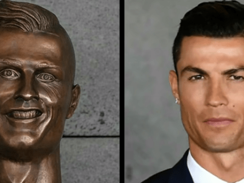 'It looks like he's been bended like Beckham': James Corden is not impressed by Cristiano Ronaldo's bust