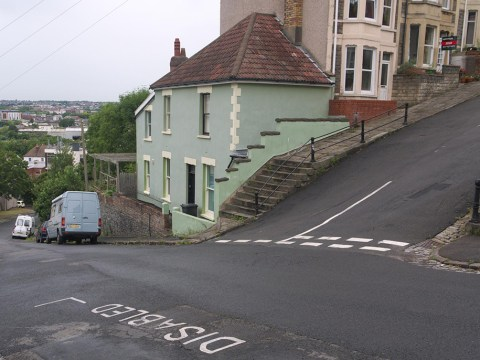 Britain's steepest street is a cyclist's worst nightmare
