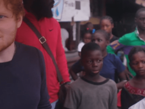 Watch Ed Sheeran explain why he couldn't stand by and watch child be abused as he pays for orphan's safety there and then