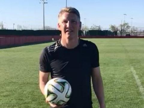 Ex-Manchester United star Bastian Schweinsteiger is training in Mallorca as he awaits US visa