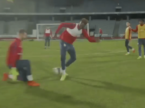 Chelsea loan star Tammy Abraham showcases incredible skill in England U21 training