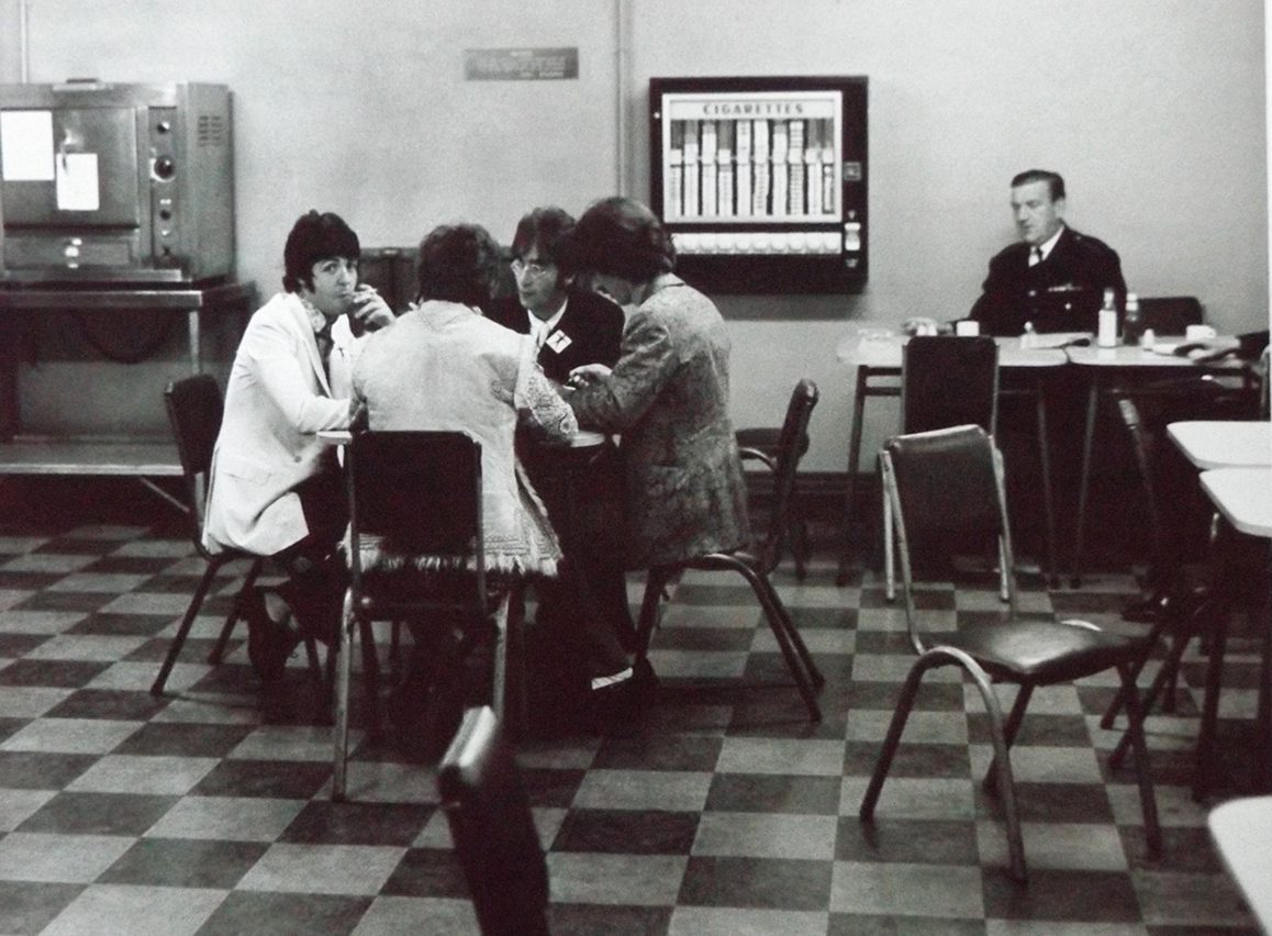 Never-before-seen snaps show The Beatles enjoying cuppas and fags in the Abbey Road canteen
