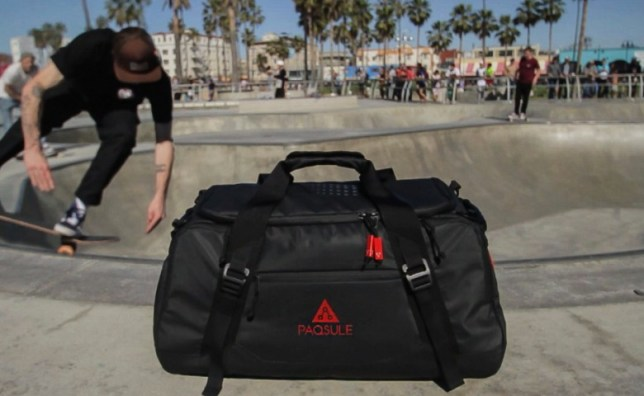 e3d45d9797ca The revolutionary bag that cleans items you put into it. (Picture  Mark  Buckley SWNS.com)