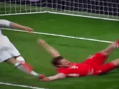 Cristiano Ronaldo appears to be deliberately tripped by Mats Hummels in Real Madrid v Bayern Munich