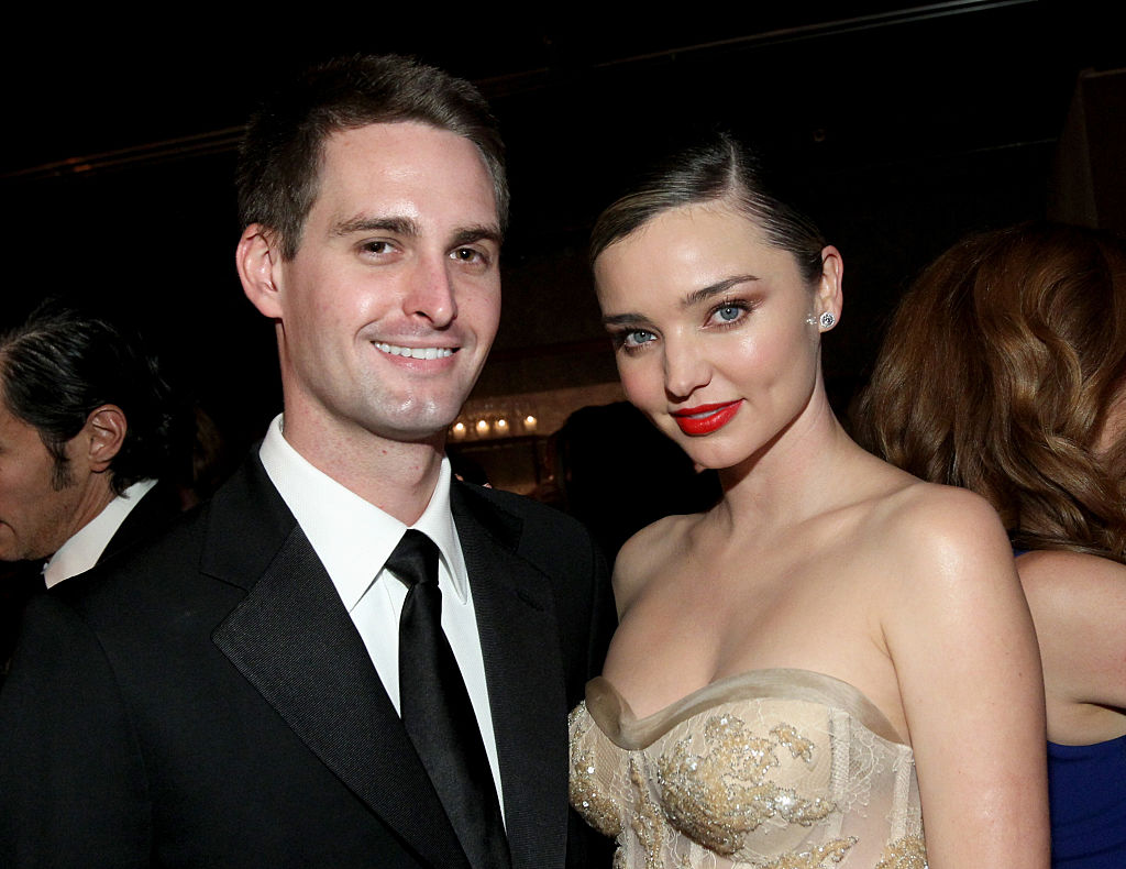 Miranda Kerr takes the brunt of fiance Evan Spiegel's alleged comments about 'poor' India and Spain