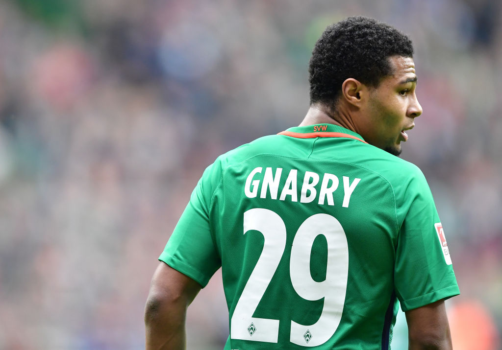 Arsenal fans beg former star Serge Gnabry to re-sign after he attends FA Cup semi-final