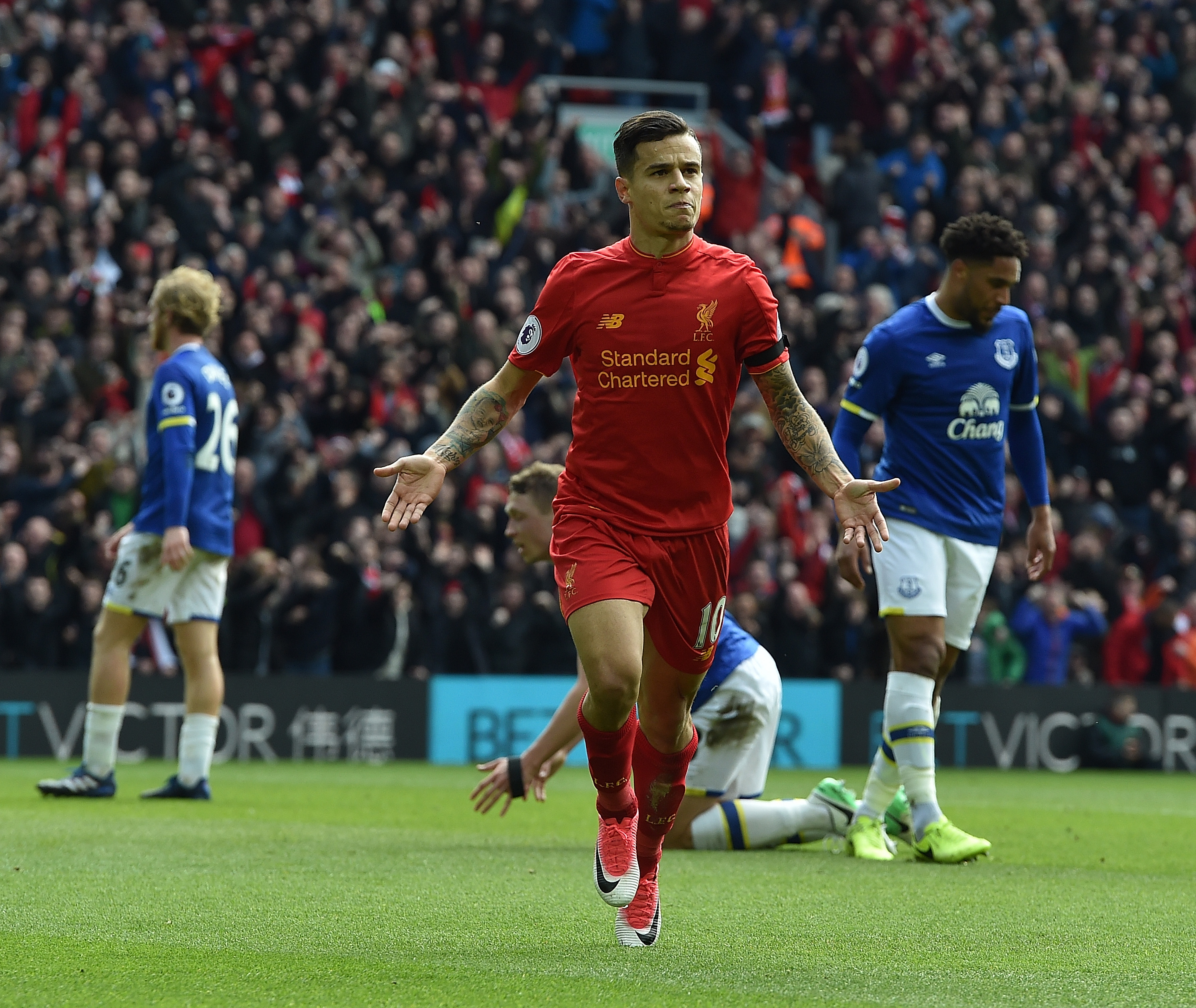 Liverpool 3-1 Everton player ratings: Philippe Coutinho and Sadio Mane superb in Merseyside Derby win
