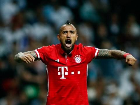 Bayern Munich trio Arturo Vidal, Robert Lewandowski and Thiago Alcantara storm referee's dressing room after Real Madrid loss