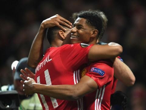 Manchester United legend Gary Neville doubts Marcus Rashford and Anthony Martial partnership