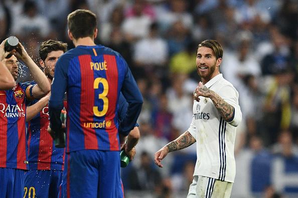 Gerard Pique and Sergio Ramos continue war of words following dramatic El Clasico
