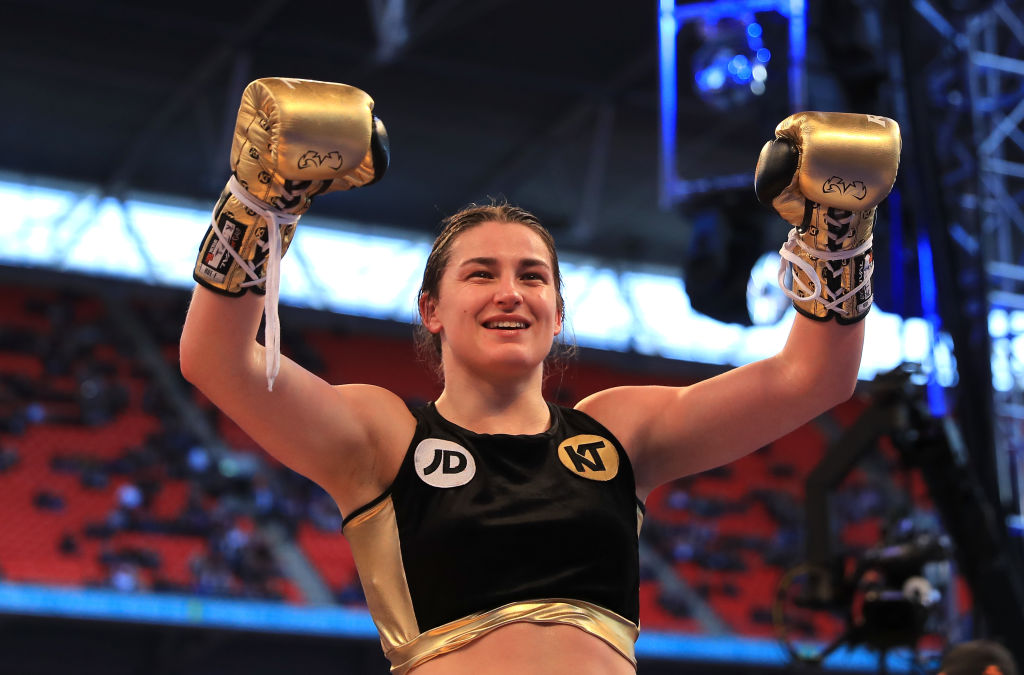 Classy Katie Taylor stops Nina Meinke in Wembley to win first pro title