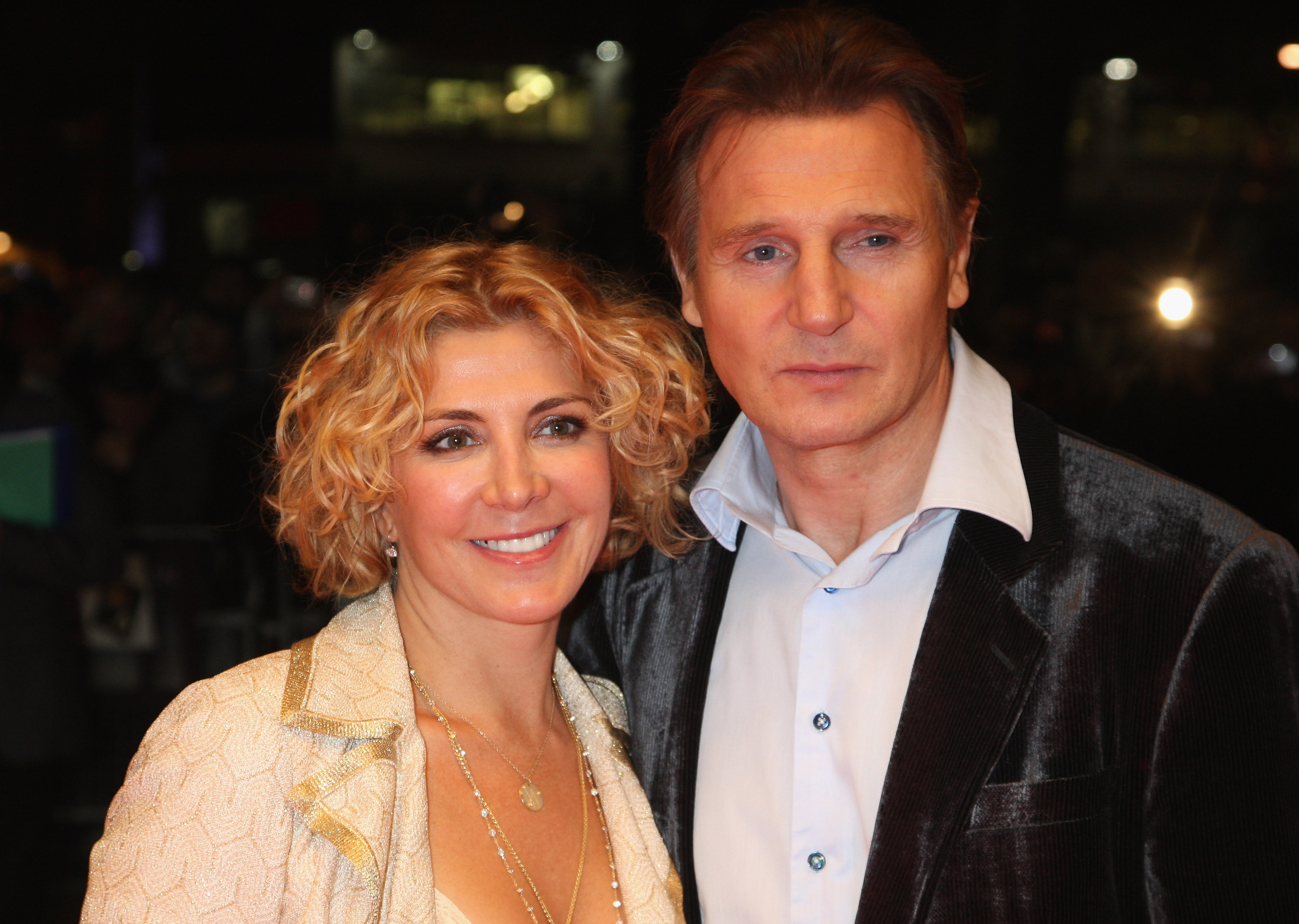 Love Actually's poignant reunion led Liam Neeson to reflect on death of wife Natasha Richardson
