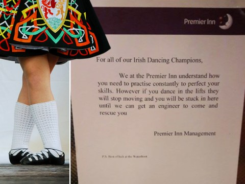 Irish dancers told to stop practising in hotel lift