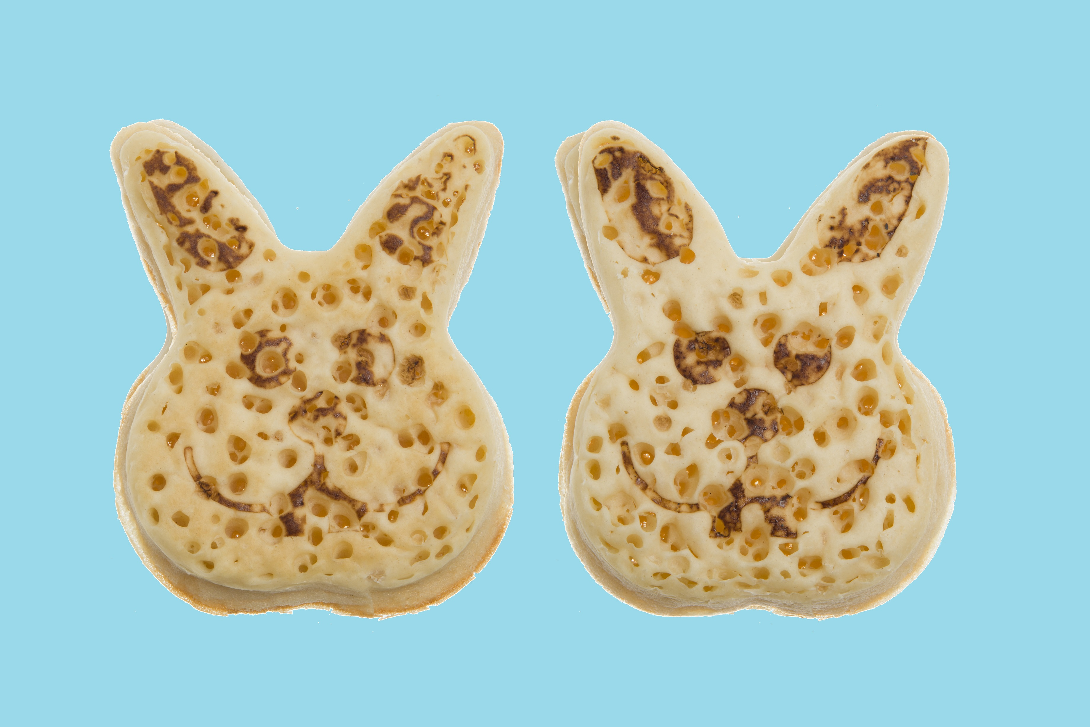 Bunny crumpets are here because nothing says Easter like eating a rabbit's face