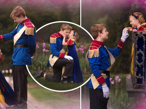 This 13-year-old boy surprised his 5-year-old sister with a Disney princess photoshoot