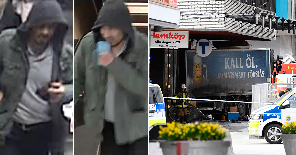 PICTURED: Man suspected of Stockholm terror attack that killed five