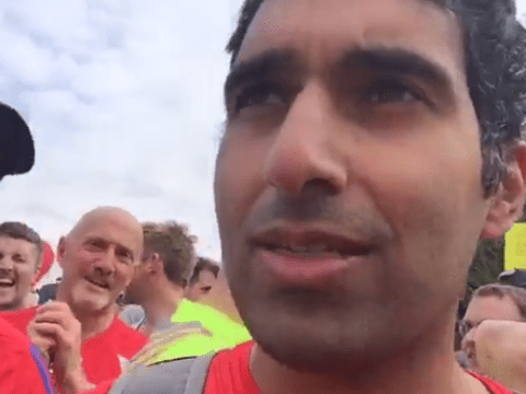 Gogglebox legend Baasit Siddiqui is doing a Facebook Live of his London Marathon run