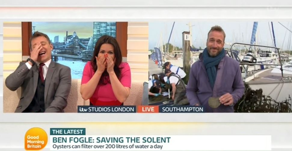 Ben Fogle admits to Good Morning Britain hosts that munching 88 oysters in one go didn't give him the horn