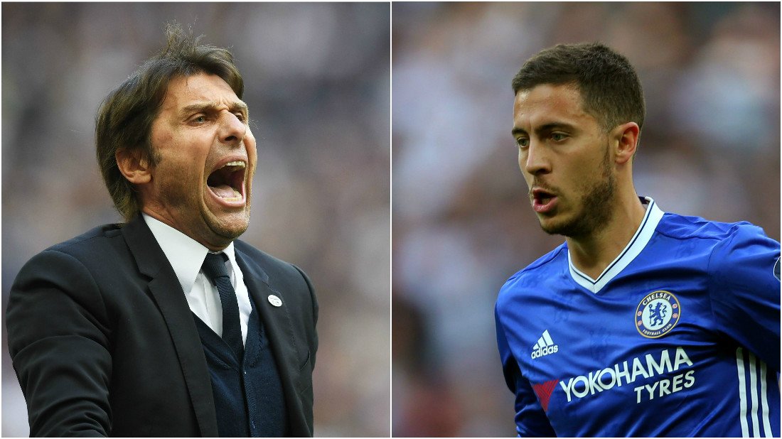 Antonio Conte dismisses Cesc Fabregas' claim that Eden Hazard must be more selfish to surpass Lionel Messi