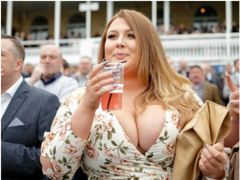 Racegoers dress to impress for Ladies' Day at Aintree