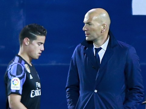 James Rodriguez calls Zinedine Zidane a 'motherf*****r' in furious rant during Real Madrid's win