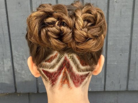Glitter undercuts are the coolest way to jazz up your hair for festival season