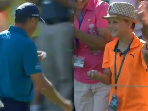 Matt Kuchar hits first hole-in-one of Masters – and immediately makes lucky kid's day