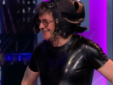 Joe Pasquale takes The Nightly Show to bizarre new depths as he dresses up in bondage gear