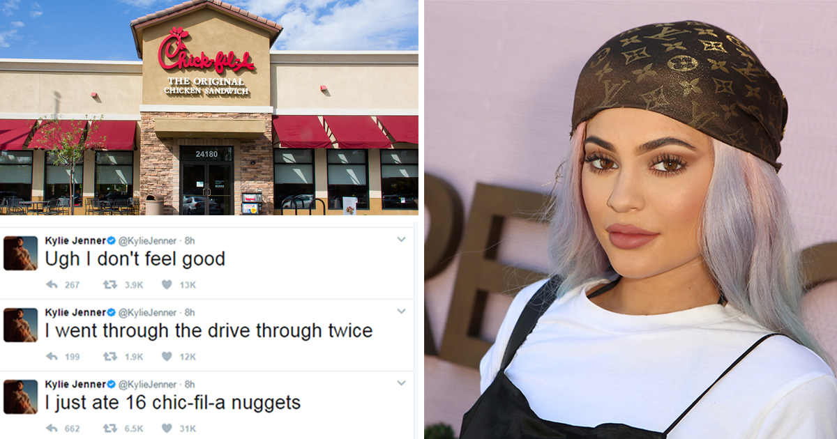 Kylie Jenner made herself ill by smashing through chicken nugget feast that saw her through fast food drive-thru TWICE
