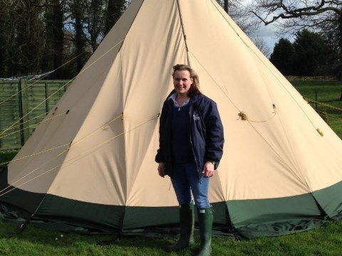 Dorset woman gives up house to spend Lent in a tent