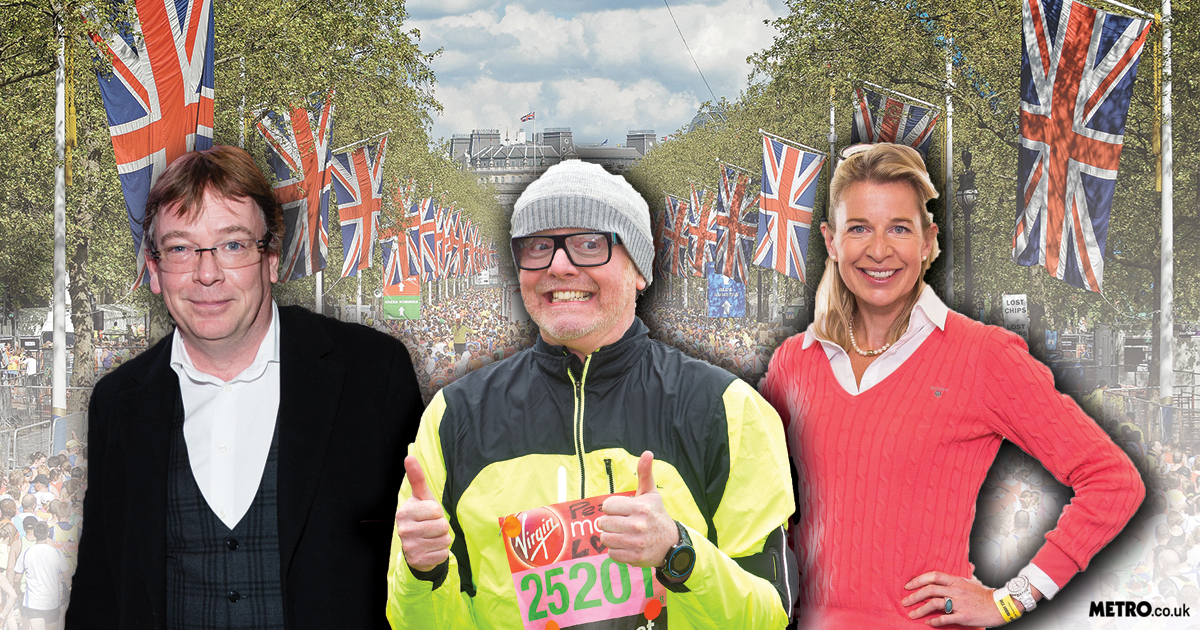Which celebrities are running the London Marathon? Here are the famous faces you can spot on the 26 mile run