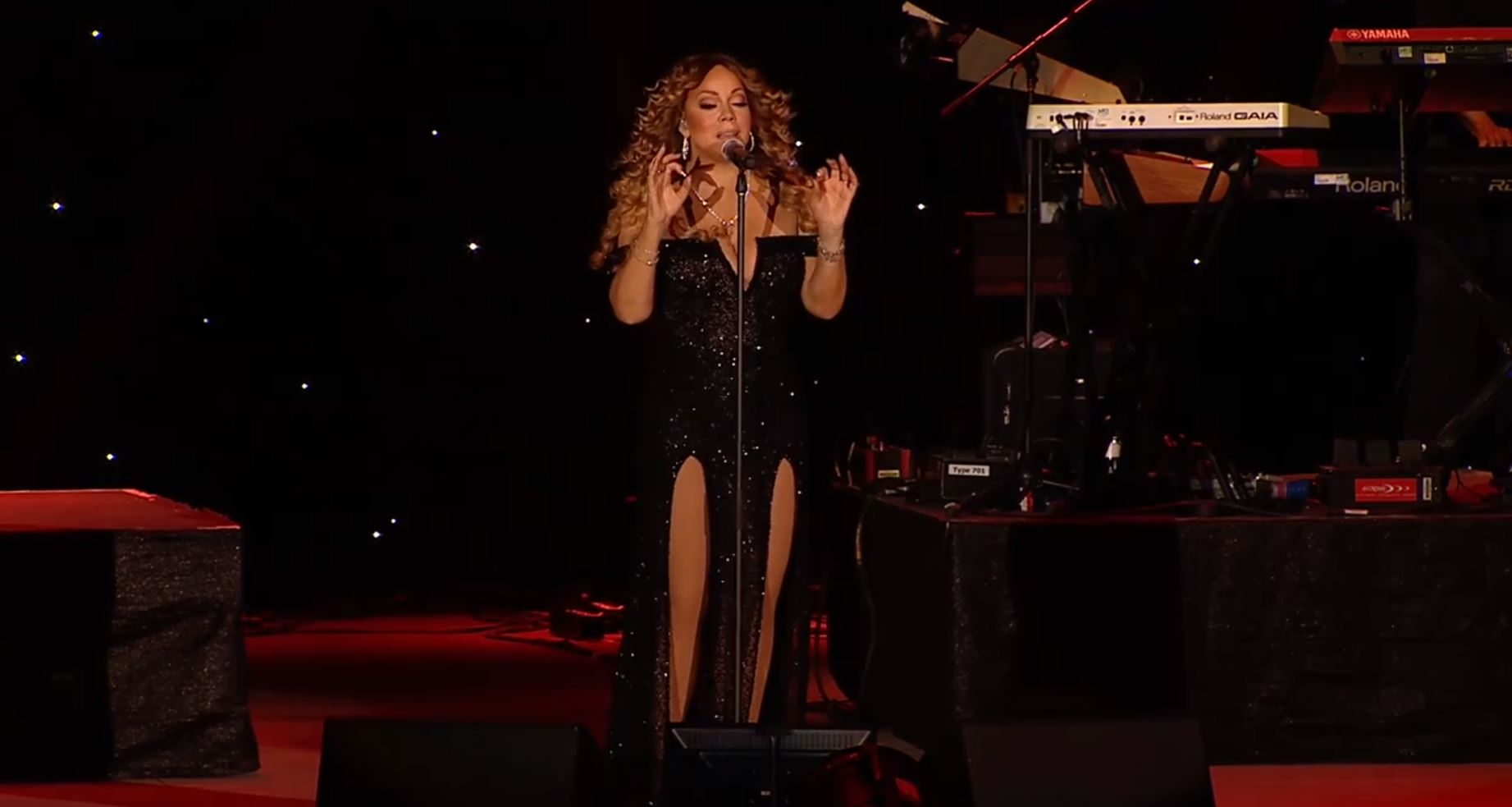 Mariah Carey performs George Michael's One More Try in heartfelt tribute to the music legend