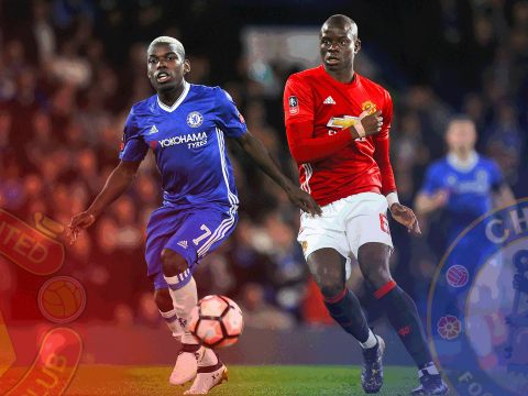 Parallel universe: What if Paul Pogba had joined Chelsea and N'Golo Kante signed for Man Utd?