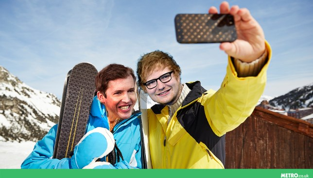 James Blunt taught Ed Sheeran to ski if he taught him how to write songs picture: REX/Getty - Credit: Mylo