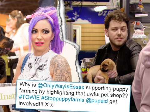 Jodie Marsh blasts TOWIE for 'promoting puppy farming' as fans vent anger over pet shop scene